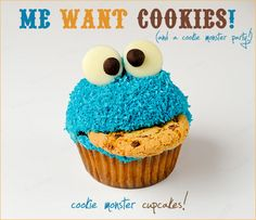 cookie monster cookie baby/birthday party