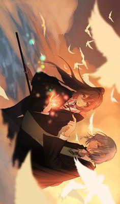 Anime Crossover, Wallpaper Pc, Animes Wallpapers, Anime Style, Webtoon, Hogwarts, Anime Art, Harry Potter, Animation