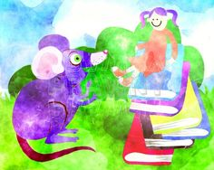 Book Imagination Girl - Free Prawny Watercolour