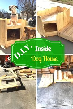 diy-inside-dog-house 21 Awesome DIY Dog Houses With Free Step-by-Step Plans Cute Dogs And Puppies, Little Puppies, Cutest Dogs, Dog House Inside, Dog Lover Gifts, Dog Lovers, Dog House Plans, Cute Dog Pictures, Animal Projects