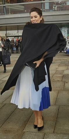 la princesse Mary a assisté à l'ouverture du sommet de la mode durable qui avait lieu à l'Opéra de Copenhague.
