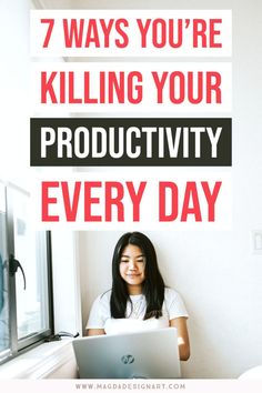 How to be more productive? Fix these mistakes and don't waste time during the day! Organize your life and keep it that way! Fix these common mistakes and make every day productive as hell! Discover 7 things that waste time and make you less effective. Click and check out this post! #productivity #success #motivation #productivitytips #productivityhacks #organization #timemanagement #planning Self Development, Personal Development, Business Tips, Online Business, Coaching, Earn Money Fast, Improve Productivity, Advertise Your Business, Time Management Tips