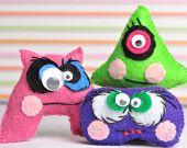Weirdly cute looking felt dolls