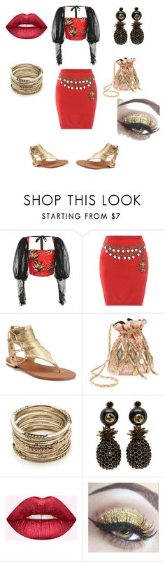"""Feeling extra today"" by trixievogue on Polyvore featuring Rodarte, Moschino, Apt. 9, Miss Selfridge, Sole Society, Gucci and Dreamgirl"