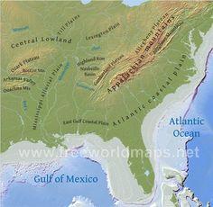 Southeastern Us Map Jpg 1000 975