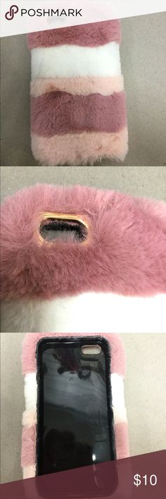 Luxury Fur iPhone 5/5s New never used. Cute case for your phone. Accessories
