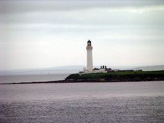 HOY MOUTH lighthouse.Scapa Flow Harbour.Graemsay Island,Orkney. Scotland
