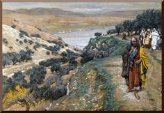 """""""The Rich Young Man Went Away Sorrowful"""" --by James Tissot"""
