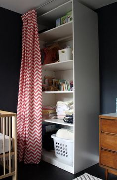 Hide storage areas with ceiling mounted curtains modern kids by Studio Zerbey Architecture + Design Kitchen Curtain Designs, Modern Kitchen Curtains, Small Space Living, Small Spaces, Home Decor Bedroom, Diy Home Decor, Peaceful Bedroom, Shared Bedrooms, Home Organization