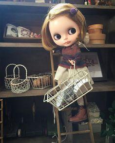 チョコ作りで忙しい日準備中♪ #blythe#outfit#blythedoll #handmade#dollphoto#dollInstagram#ドール#アウトフィット#harusya#ブライス#手作り