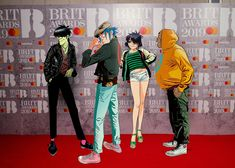 Here is a place where I will post all of the official Gorillaz art. I claim none of this art and it is all created by Jamie Hewlett. I will NOT be posting any fan art (including edits). Gorillaz Band, Harry Styles, Im A Loser, Jamie Hewlett, Daddy Issues, Aesthetic Fashion, Photo Illustration, Music Bands, Cool Bands