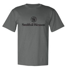 Smith & Wesson - Men's Classic-Styled Smith & Wesson Logo Tee