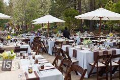 Pretty outdoor wedding setting