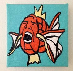 3defc9d2ff624 Nic Cage Pokemon  Magikage 4 X 4 inch hand painted acrylic canvas. Finished  with