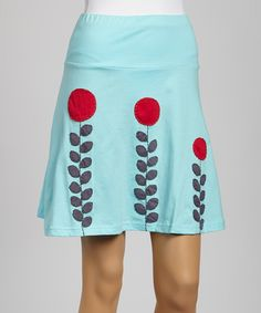 Loving this Sky Stem & Leaf A-Line Organic Skirt on #zulily! #zulilyfinds