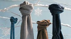 Look cool and keep warm with these trendy ways to tie a winter scarf. Four different styles with four different winter scarves.