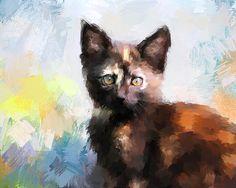 Tortoiseshell Kitten #1 painting