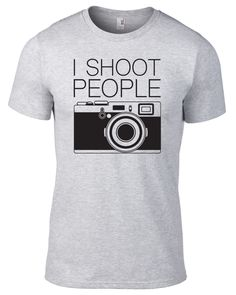 c874d2a1b497f I Shoot People Camera Photography T-Shirt - Available in Men s and Women s  by JeanpoolClothing on Etsy