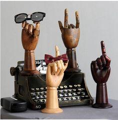 Gratis Verzending! modieuze Stijl Beste Kwaliteit Houten Hand Mannequin Hand Oefenpop Uitverkoop