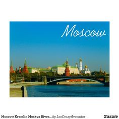 Moscow Kremlin Moskva River City Architecture Postcard Moscow Kremlin, City Architecture, Keep It Cleaner, Holiday Cards, River, Christian Christmas Cards, Rivers