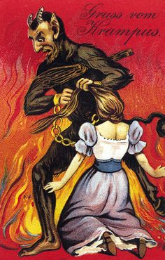 …and this is just sadistically weird. | 21 Vintage Postcards Of Krampus That Will Haunt Your Dreams