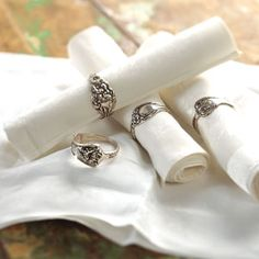 Napkin Rings made from old silverware
