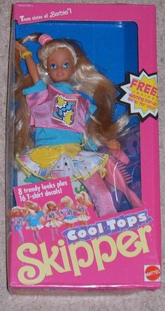 Skipper  - This was my first Barbie. I think I still haver her. I used to think her outfit was the peek of fashion = )