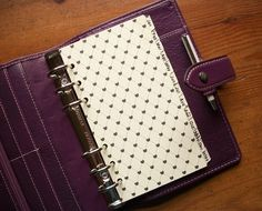 Monthly - Personal Size - Black & Cream - Dividers. Fits Filofax