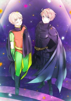 Tags: Anime, Pixiv Id 451733, DC Comics, Batman, Axis Powers: Hetalia, United Kingdom, United States