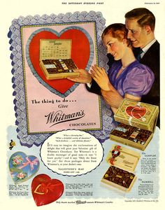 Give Whitman's Chocolates for Valentine's, it's the thing to do!