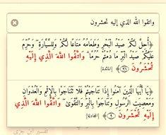 المائدة ٩٦ ﴿واتقوا الله الذي إليه تحشرون﴾ مع الحشر ٩ / مرتان في القرآن
