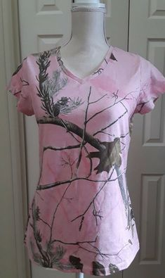 e27e6f2a4fba1 Real Tree Short Sleeve Pink Camo Shirt Hunting Gear Womens M (8-10) #fashion  #clothing #shoes #accessories #womensclothing #tops (ebay link)