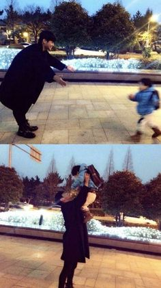 Celebrities with their nieces/nephews Cute Asian Babies, Korean Babies, Asian Kids, Cute Babies, Father And Baby, Dad Baby, Ulzzang Kids, Ulzzang Couple, Cute Family