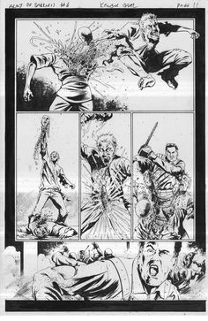 Army of Darkness Furious Road #6 Original Comic Page 11 by Kewber Baal
