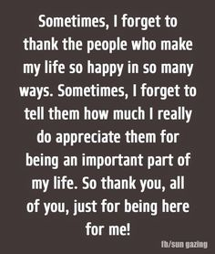 Thank You All For Just Being Here For Me! Pictures, Photos, and Images for Facebook, Tumblr, Pinterest, and Twitter
