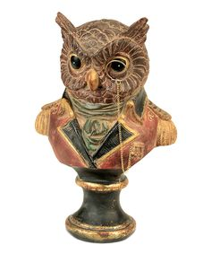 Regal Owl Bust Statue