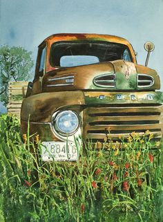 Vintage Rusted Ford Truck