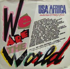 USA For Africa We Are The World USAID1 1000's Viny Records on www.popmaster.pl