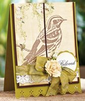 Beloved Card by Nina Brackett - supplies and instructions included