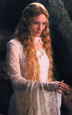 Galadriel (Cate Blanchett) from LOTR and The Hobbit. She was a ruler of Lothlórien, had enough moral strength to resist The Ring, provided Frodo with the Light of Eärendil, and she was able to send telepathic messages to others throughout the films. Legolas, Tauriel, Gandalf, Aragorn, Galadriel Lotr, Thranduil, Lord Of Rings, Fellowship Of The Ring, The Hobbit Movies