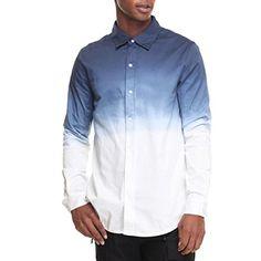 (ハドソンエヌワイシー) Hudson NYC メンズ トップス ボタンダウンシャツ ombre chambray fishtail l/s button - down 並行輸入品  新品【取り寄せ商品のため、お届けまでに2週間前後かかります。】 カラー:Off White,Blue 素材:100% Cotton