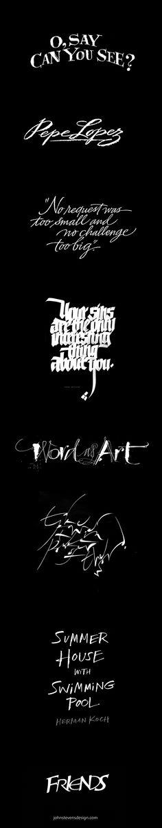 Brush & Pen+Design on Typography Served