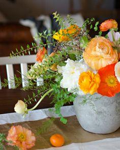 the flower workshop @Amanda Snelson Luu // January blooms