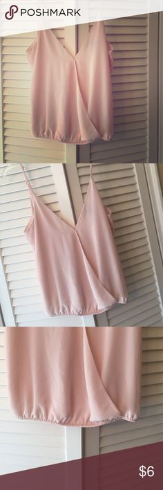 Lovely Camisole Very nice only worn once. Blush Pink. Same style from and back with elastic waist. Forever 21 Tops Camisoles