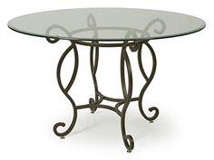 Impacterra QLAT514394819 Atrium Dining Table, Autumn Rust