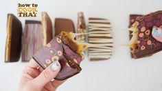 HOW TO MAKE CHOCOLATE BLOCKS How To Cook That Ann Reardon (Caramel & S'm...