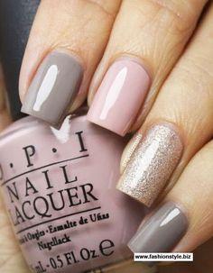 OPI gray pink gold