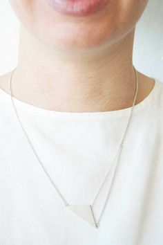 S3-COM necklace silver by Naoko Ogawa