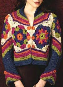 Crochet by Jane: CASACOS, BOLEROS E BLUSA PARA O INVERNO