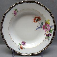 MEISSEN SUPPENTELLER D=23,5 cm, A-KANTE MIT BLUMENMALEREI, 1. WAHL in Antiquitäten & Kunst, Porzellan & Keramik, Porzellan | eBay
